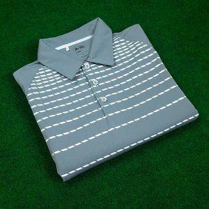 adidas Climalite Grey w/ White Dashes Polo